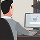 Cartoon Shopping / Man Online Buying - VideoHive Item for Sale