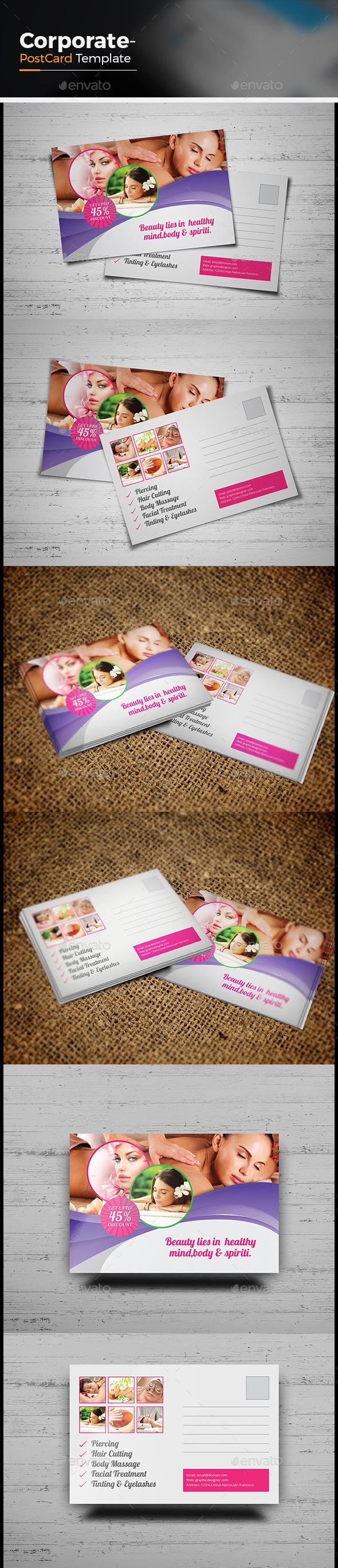 Beauty & Spa Postcard Template - Cards & Invites Print Templates