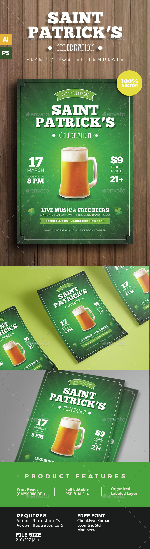 Saint Patrick Celebration Flyer - Clubs & Parties Events