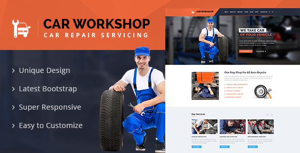 Car Workshop – Car Service & Repairs Workshop Template