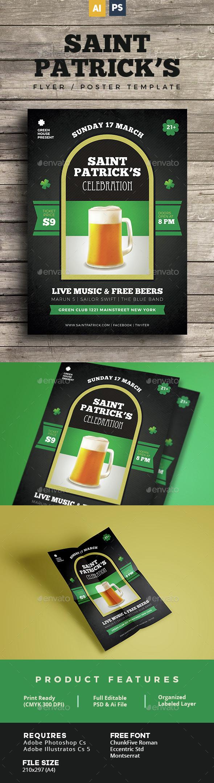 Saint Patrick Flyer / Poster - Holidays Events