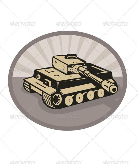 German Panzer Battle Tank Retro - Industries Business