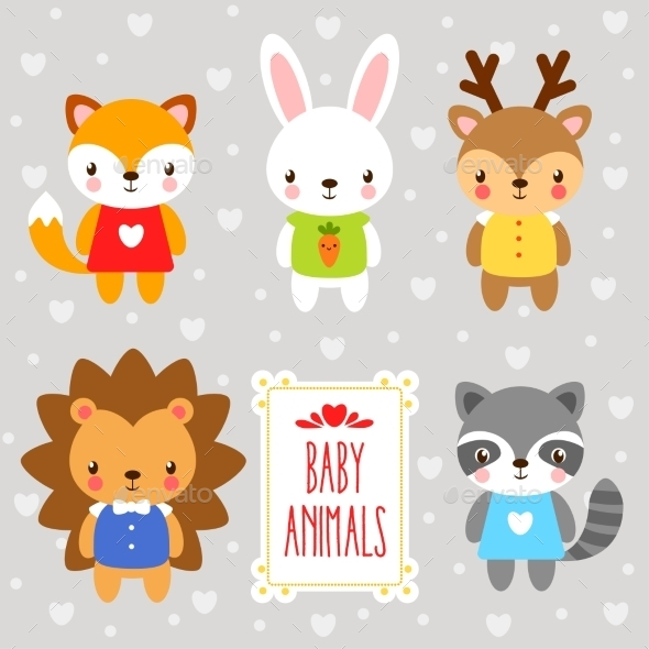 Set of Cartoon Animals - Animals Characters