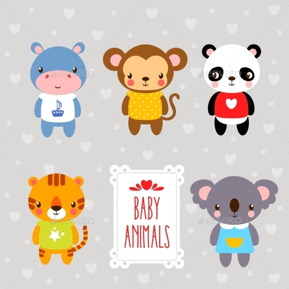 Set of Cartoon Animals. - Animals Characters