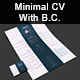 Minimal CV Template wiht Business Card (3 Colors) - GraphicRiver Item for Sale