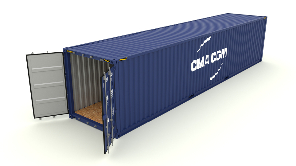 Shipping container CMA CGM - 3DOcean Item for Sale