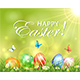 Easter Background with Eggs in Grass with Flowers - GraphicRiver Item for Sale