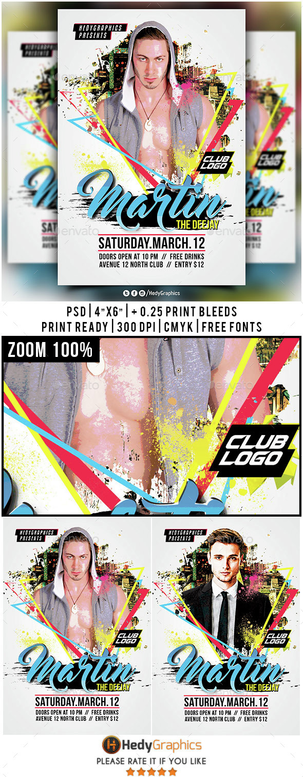 Guest Dj & Artist - Flyer Template - Clubs & Parties Events