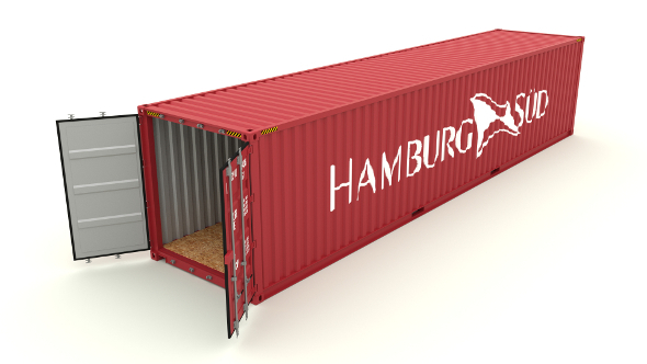 Shipping container Hamburg Sud - 3DOcean Item for Sale