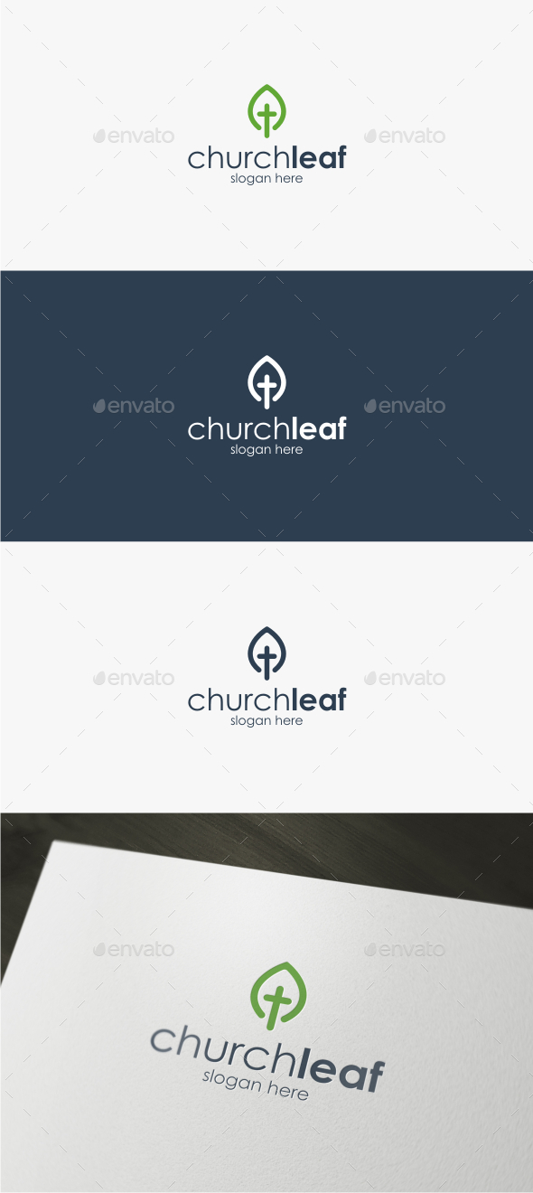 Church Leaf - Logo Template - Symbols Logo Templates