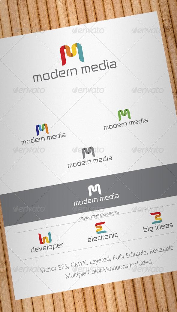 Modern Media Logo Template - Letters Logo Templates
