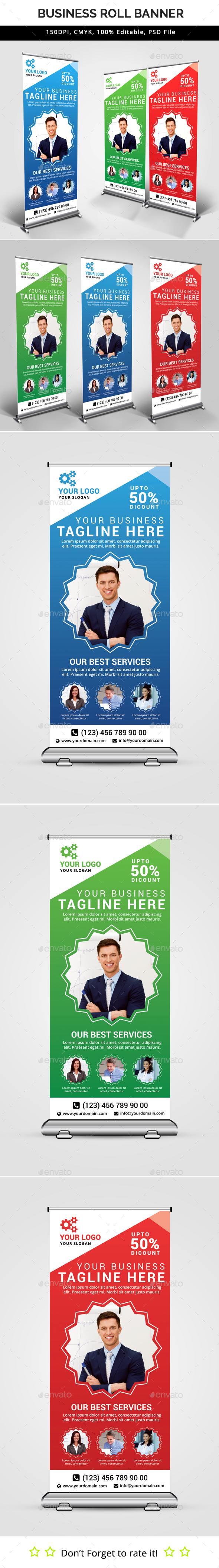 Business Roll Up Banner V29 - Signage Print Templates