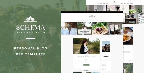 Schema : Elegant Blog Template - Creative PSD Templates