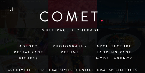 Comet – Creative Multi-Purpose Drupal Theme