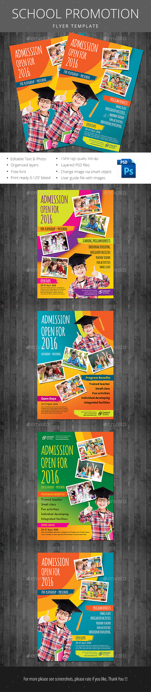 School Promotion - Flyers Print Templates