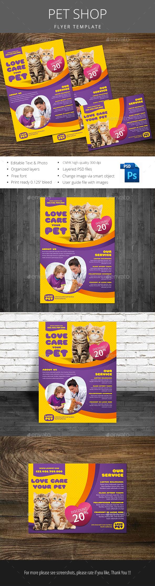 Pet Shop Flyer - Flyers Print Templates