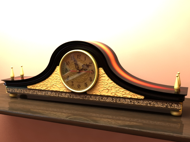 Mantel Clock - 3DOcean Item for Sale