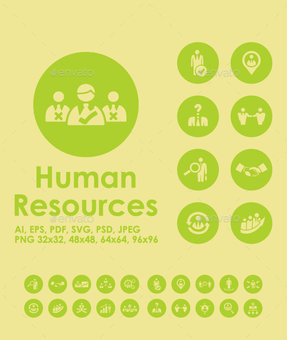20 Human Resources icons - Business Icons