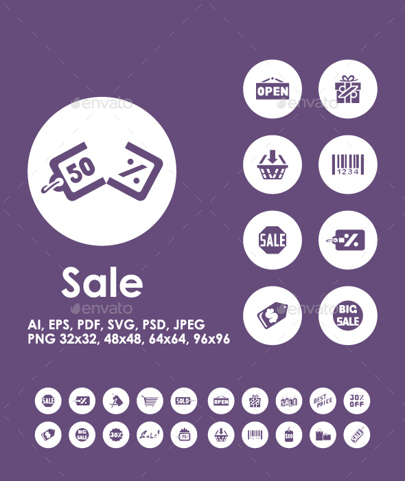 20 Sale icons - Business Icons