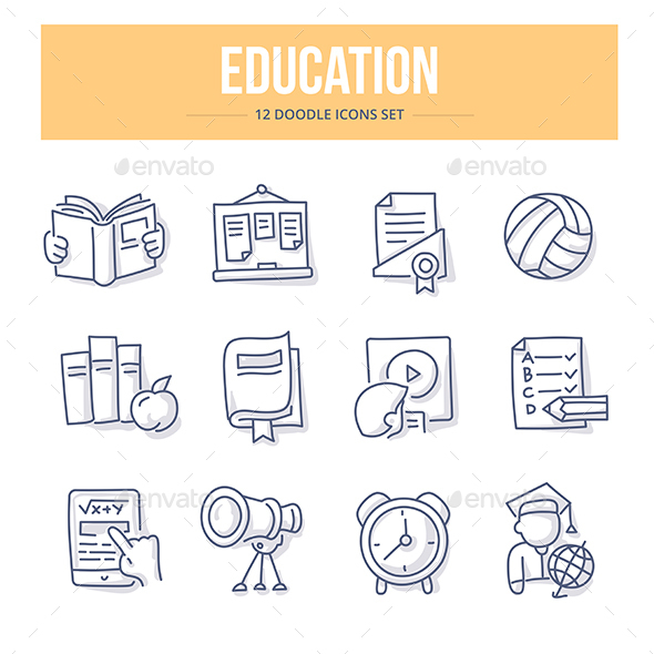Education Doodle Icons - Miscellaneous Icons