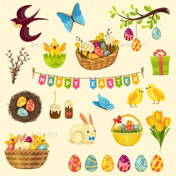 Easter Symbols Set - Miscellaneous Seasons/Holidays