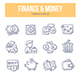 Finance & Money Doodle Icons - GraphicRiver Item for Sale