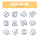 Cloud Hosting Doodle Icons - GraphicRiver Item for Sale