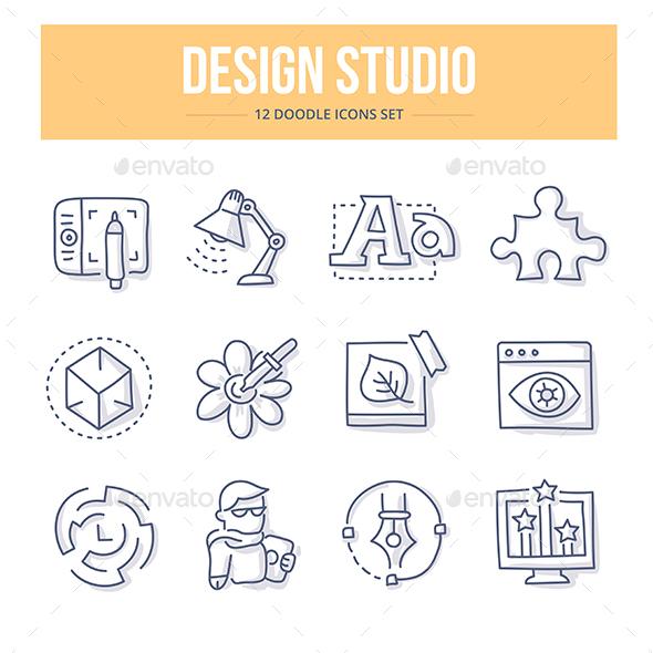 Design Studio Doodle Icons - Miscellaneous Icons