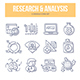 Research & Analysis Doodle Icons - GraphicRiver Item for Sale