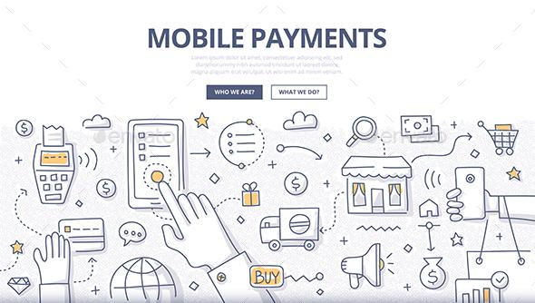 Mobile Payments Doodle Concept - Communications Technology