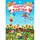 Happy Easter Card with Cats and Eggs - GraphicRiver Item for Sale