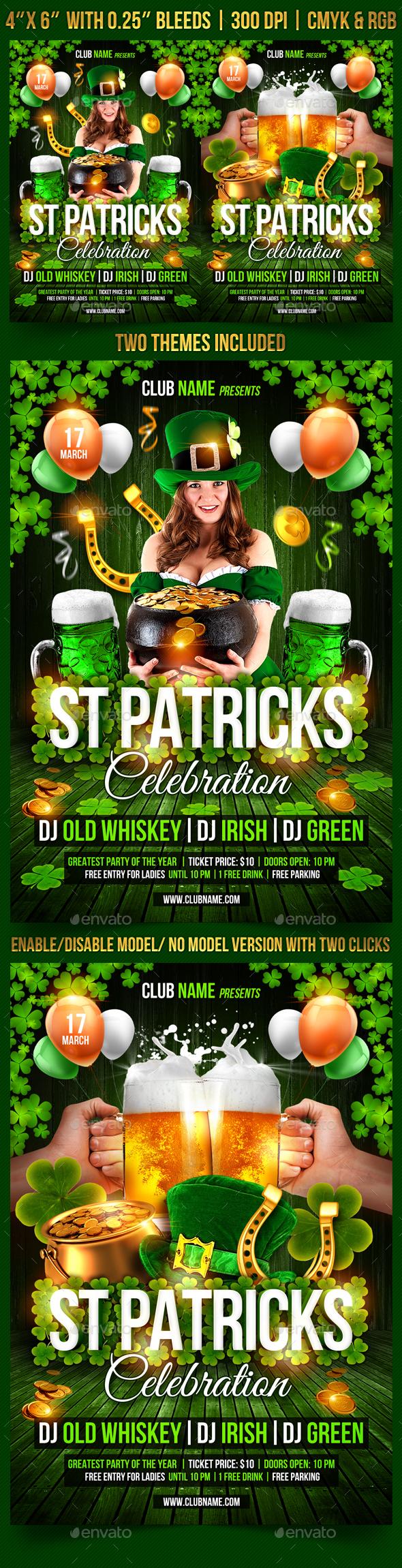 St. Patrick's Day Celebration Flyer  - Events Flyers
