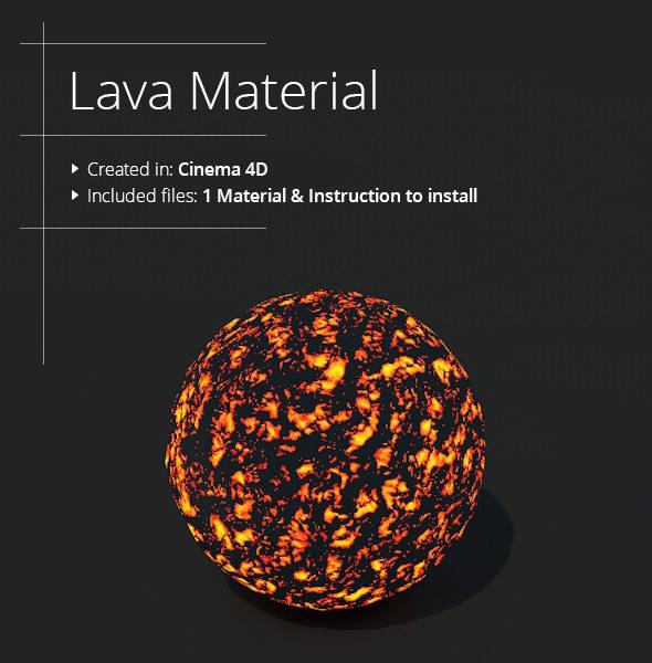 Lava Material - 3DOcean Item for Sale