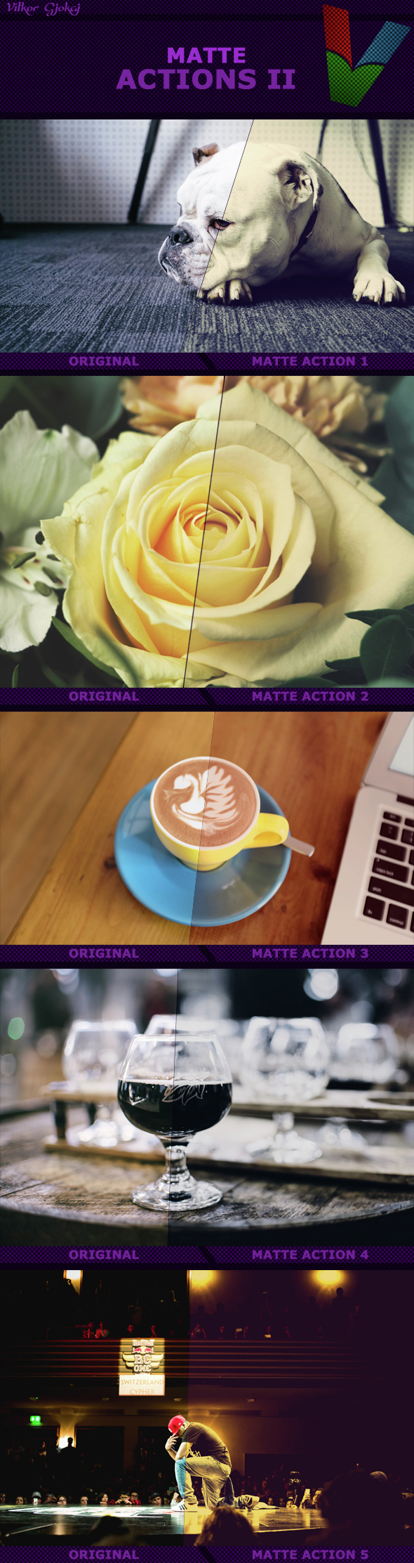 Matte Actions II - Photo Effects Actions