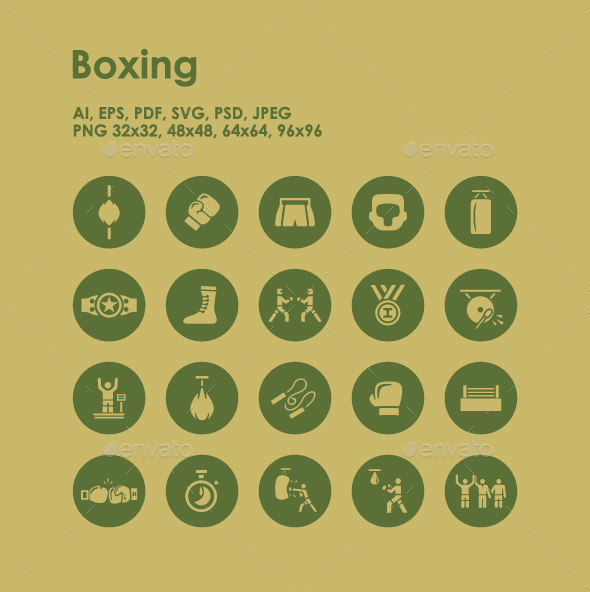 20 Boxing icons - Miscellaneous Icons