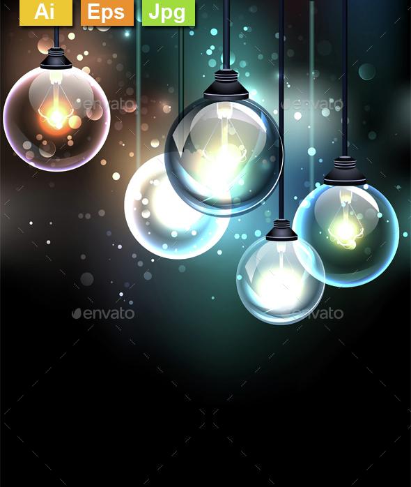 Round Lamp - Backgrounds Decorative