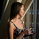 Woman With Coffe Near The Window - VideoHive Item for Sale