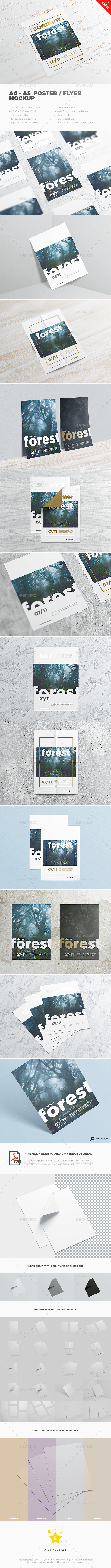 A4 - A5 Poster / Flyer-MockUp  - Posters Print