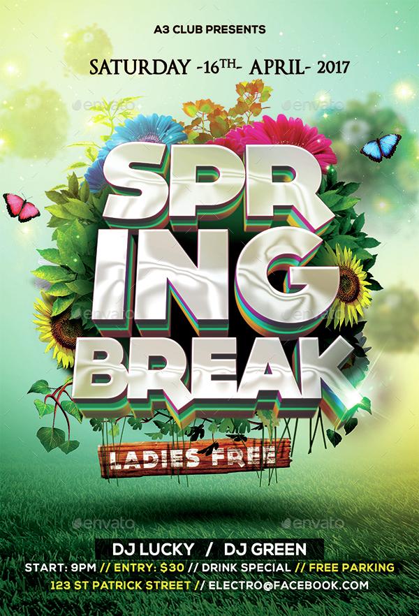 spring flyer design