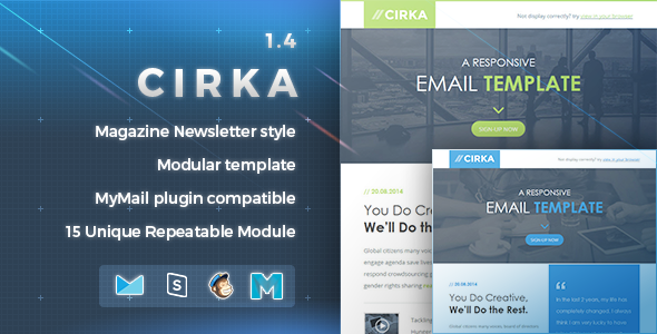 Cirka | Responsive Email Template - Newsletters Email Templates