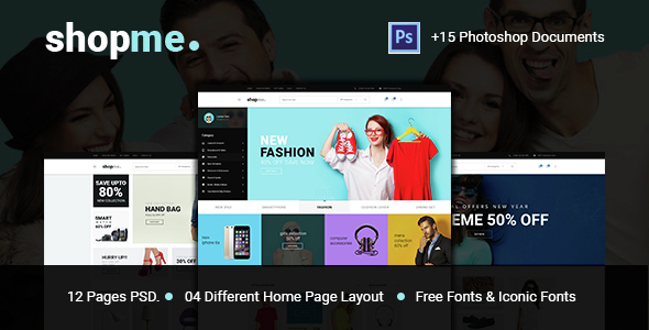 Shopme eCommerce PSD Template - Retail PSD Templates