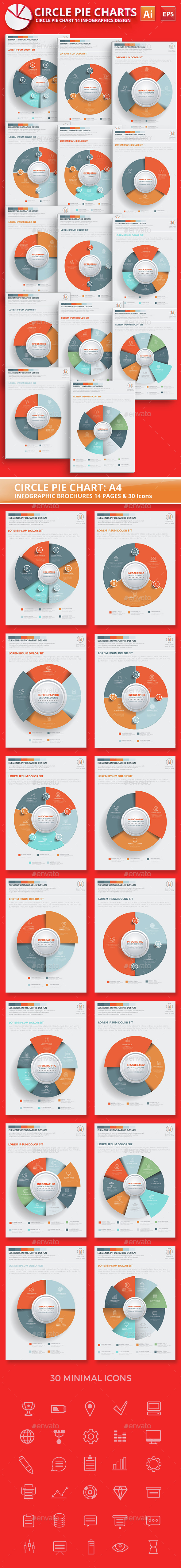Circle Pie Chart Infographic Elements Design - Infographics