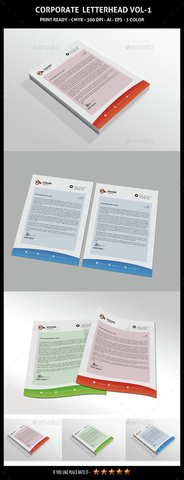 Corporate Letterhead Vol-1 - Stationery Print Templates