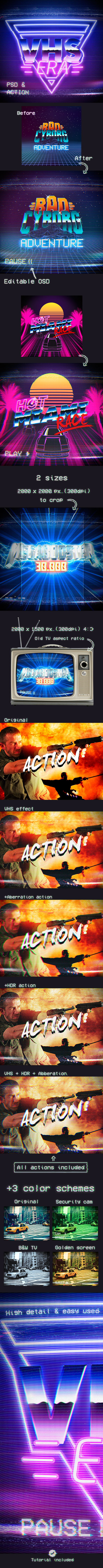 VHS Era - Photo Effects Actions
