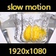 Lemon Falling Into Water - VideoHive Item for Sale
