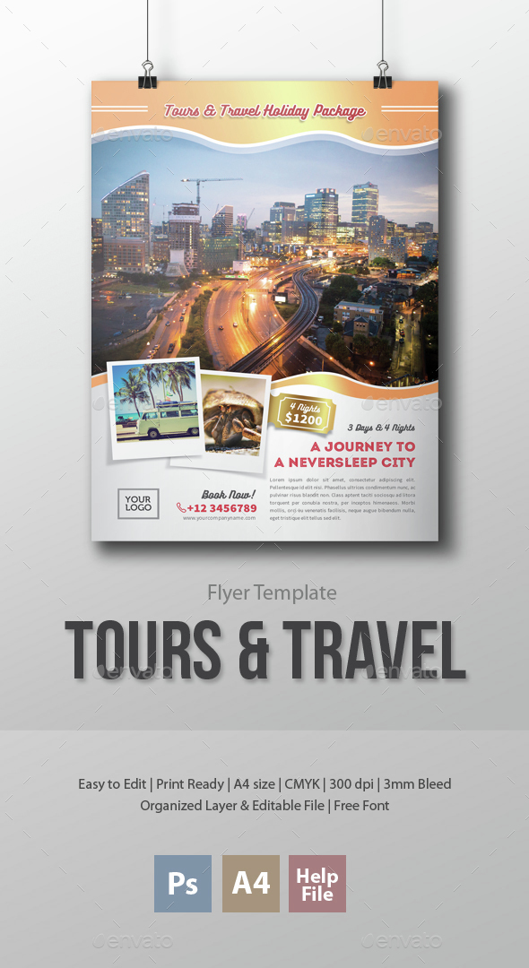 Tours and Travel Flyer Template - Holidays Events