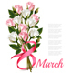 8th March with Red Roses International Womens Day - GraphicRiver Item for Sale