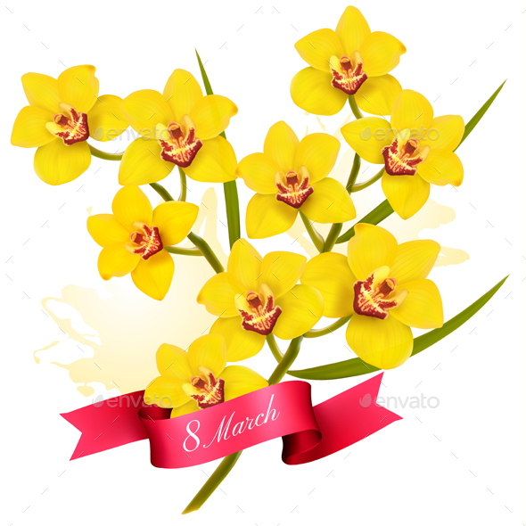 8th March Holiday Yellow Flowers Background - Miscellaneous Seasons/Holidays