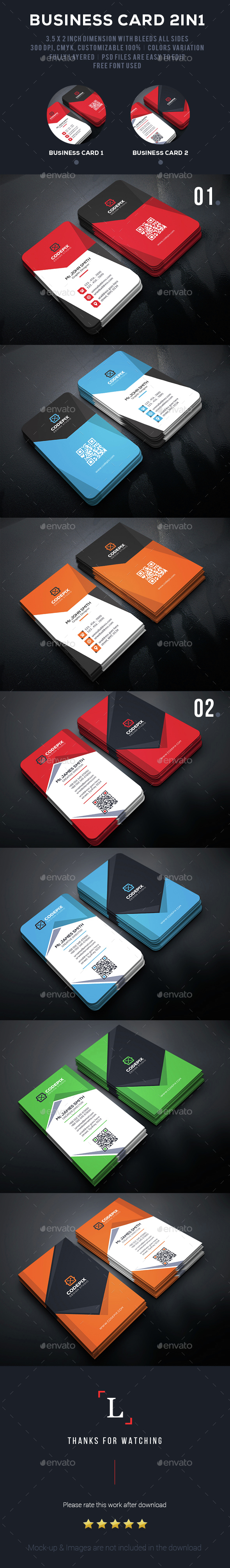 Modern Business Card Bundle - Business Cards Print Templates