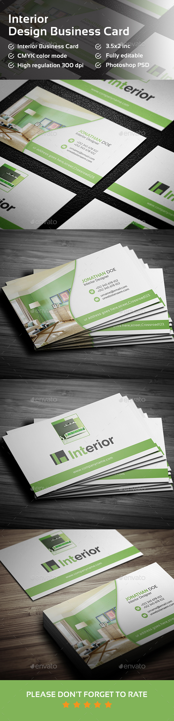 Interior Design Business Card  - Industry Specific Business Cards